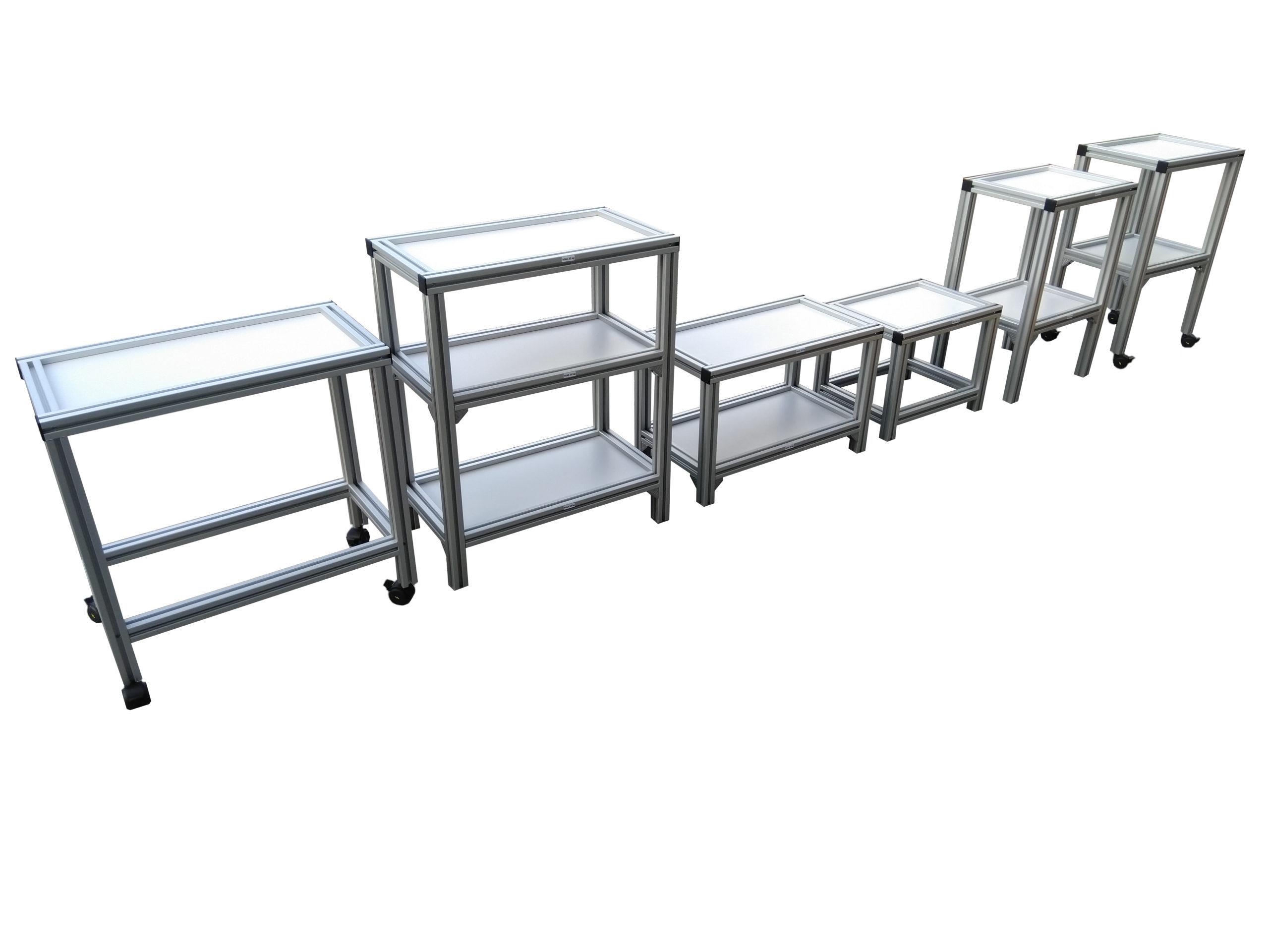 Regały meble stoły stanowiska Bosch Rexroth profile aluminiowe